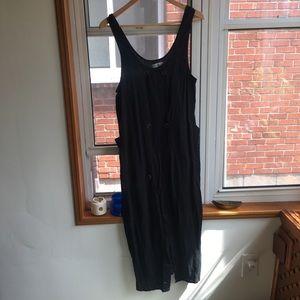 Floor length linen dress